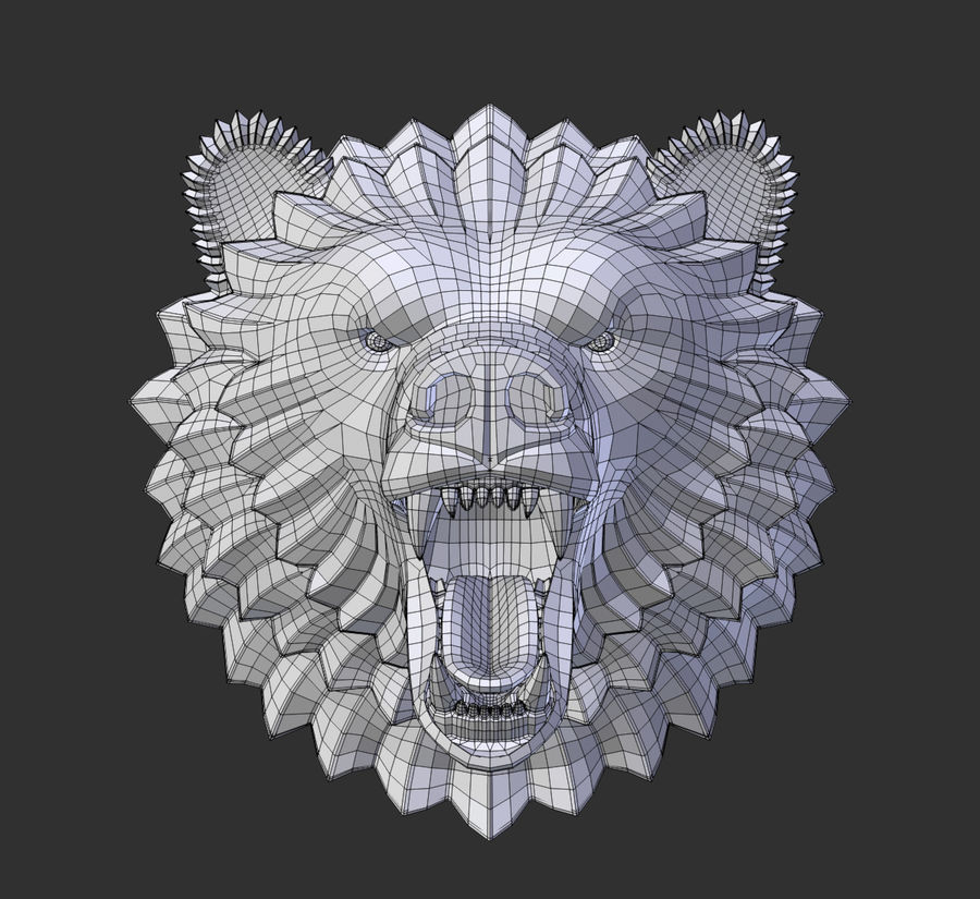 A cabeça do urso royalty-free 3d model - Preview no. 5