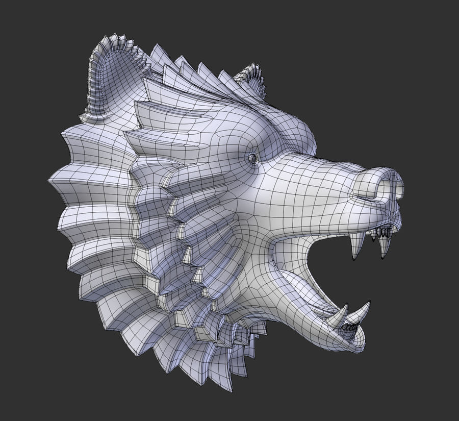 A cabeça do urso royalty-free 3d model - Preview no. 7