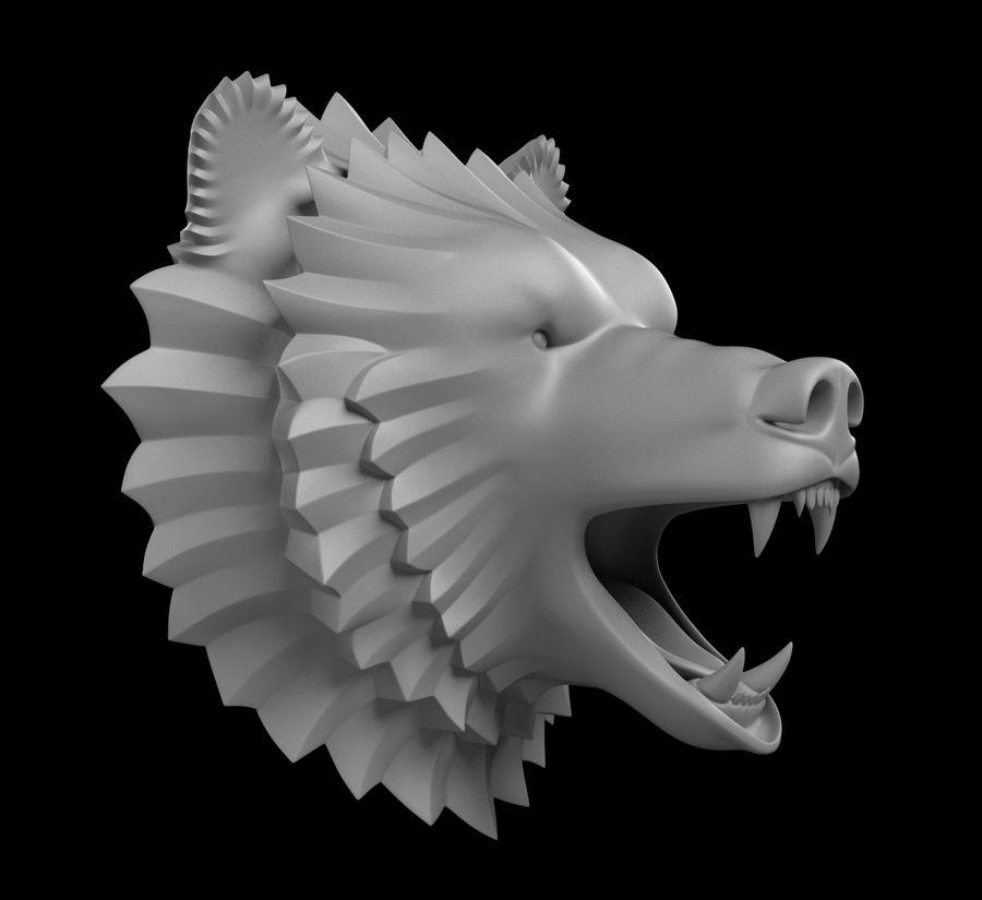 A cabeça do urso royalty-free 3d model - Preview no. 6