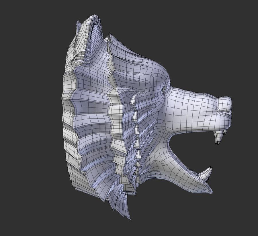 A cabeça do urso royalty-free 3d model - Preview no. 9
