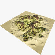 Island Mountain Mod 2 3d model