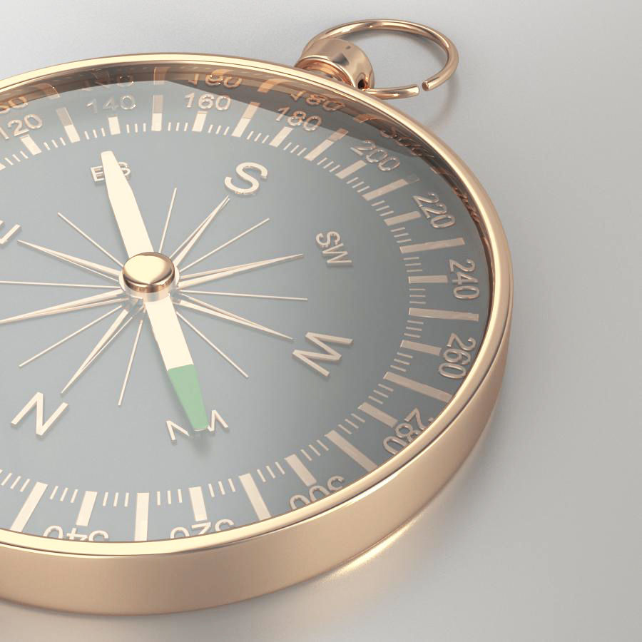 Compass royalty-free 3d model - Preview no. 4