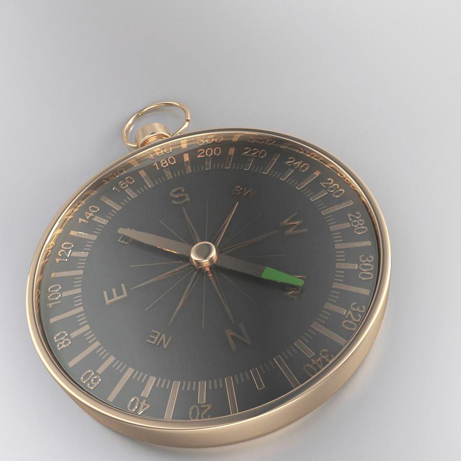 Compass royalty-free 3d model - Preview no. 3