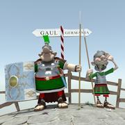 Roman Soldiers Asterix 3d model