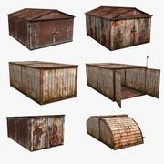 Russian Garage Set (13 Models) 3d model