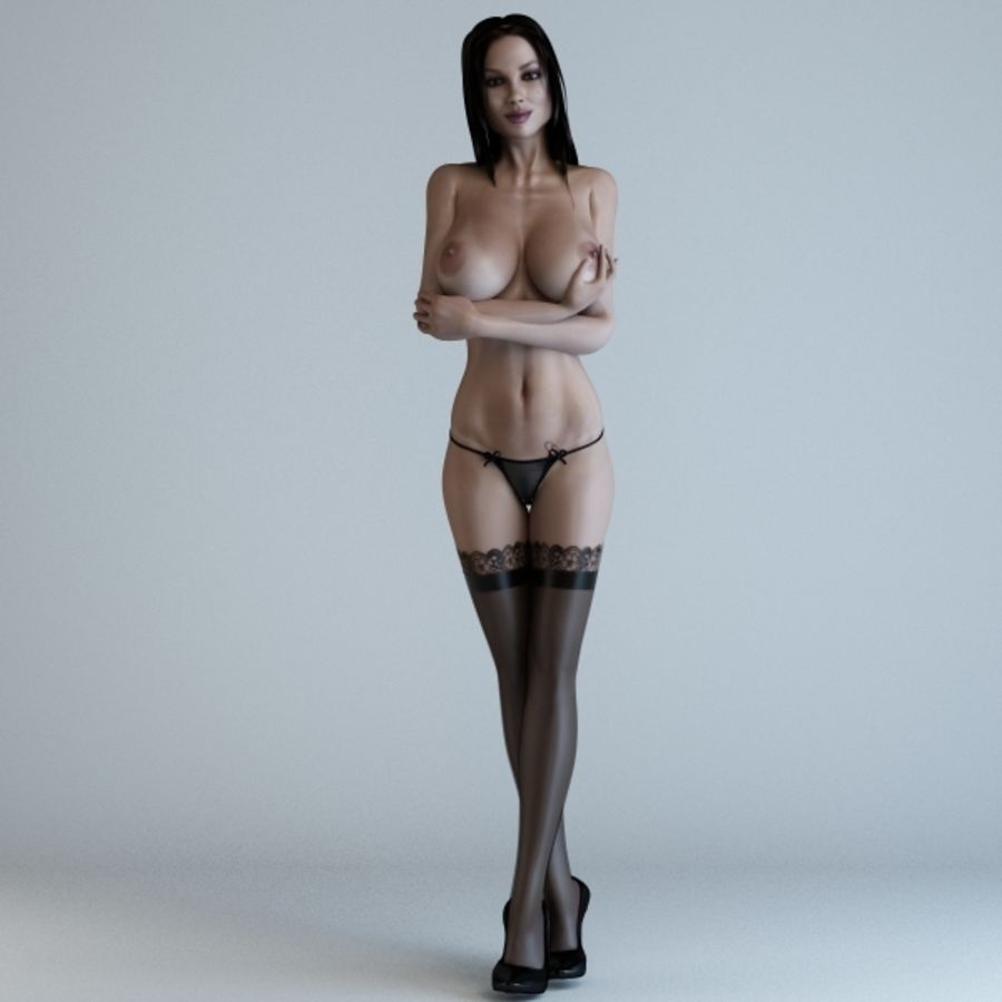 Woman 3 (Rigged) royalty-free 3d model - Preview no. 2