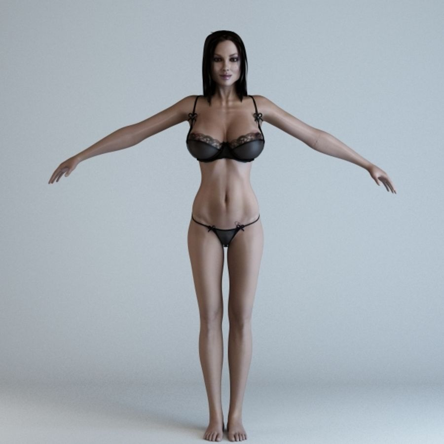 Woman 3 (Rigged) royalty-free 3d model - Preview no. 5