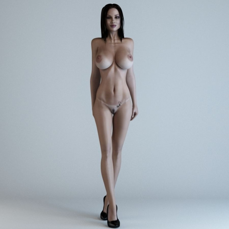 Woman 3 (Rigged) royalty-free 3d model - Preview no. 3