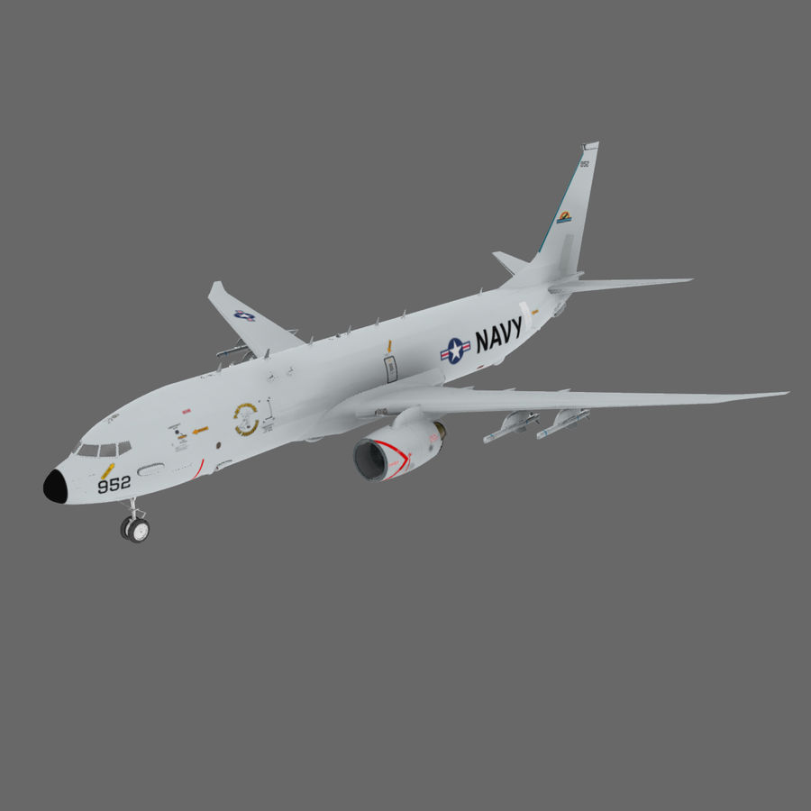 Poseidon P8A royalty-free 3d model - Preview no. 2
