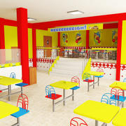 Restaurant de restauration rapide 3d model