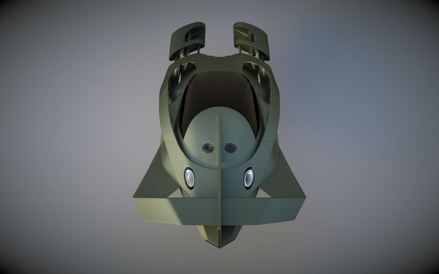 T-Fighter royalty-free 3d model - Preview no. 7