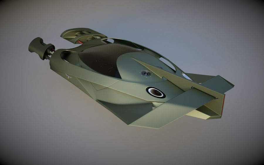 T-Fighter royalty-free 3d model - Preview no. 6