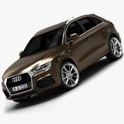 Audi Q3 2015 (низкий интерьер) 3d model