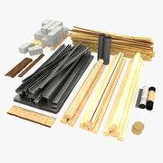 Materiales de construcción modelo 3d