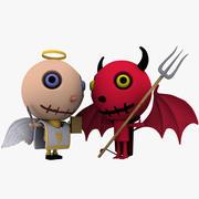 Melek vs şeytan 3d model