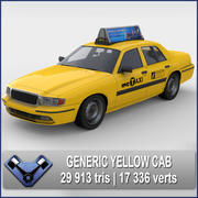 Żółta kabina 3d model