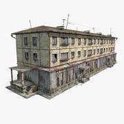 3-våningar ryska kakelhus 3d model