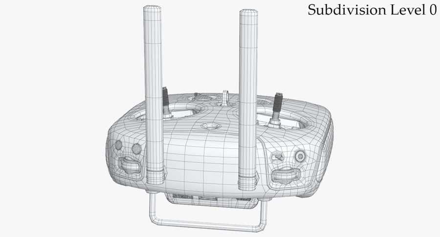 DJI Inspire Remote Control royalty-free 3d model - Preview no. 25