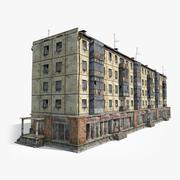 5 Katlı Rus Kiremit Evi 3d model