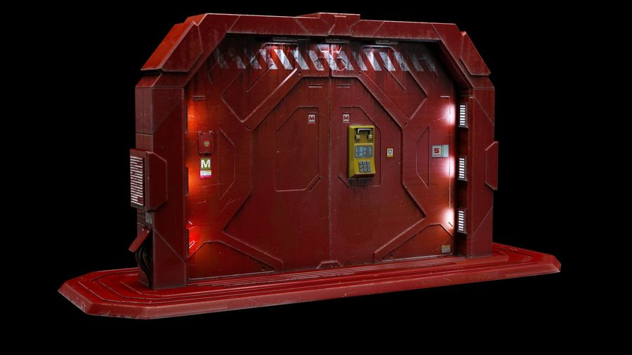 SF GATE DOOR royalty-free 3d model - Preview no. 1