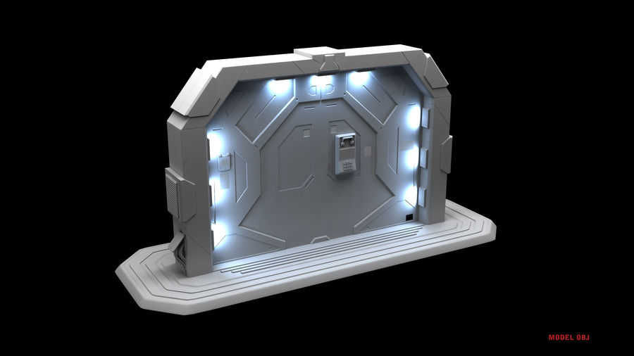 SF GATE DOOR royalty-free 3d model - Preview no. 10