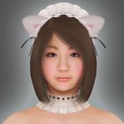 여자 웨이터 3d model