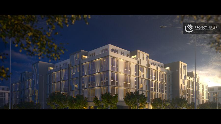 Dom, mieszkanie, budynek biurowy royalty-free 3d model - Preview no. 7