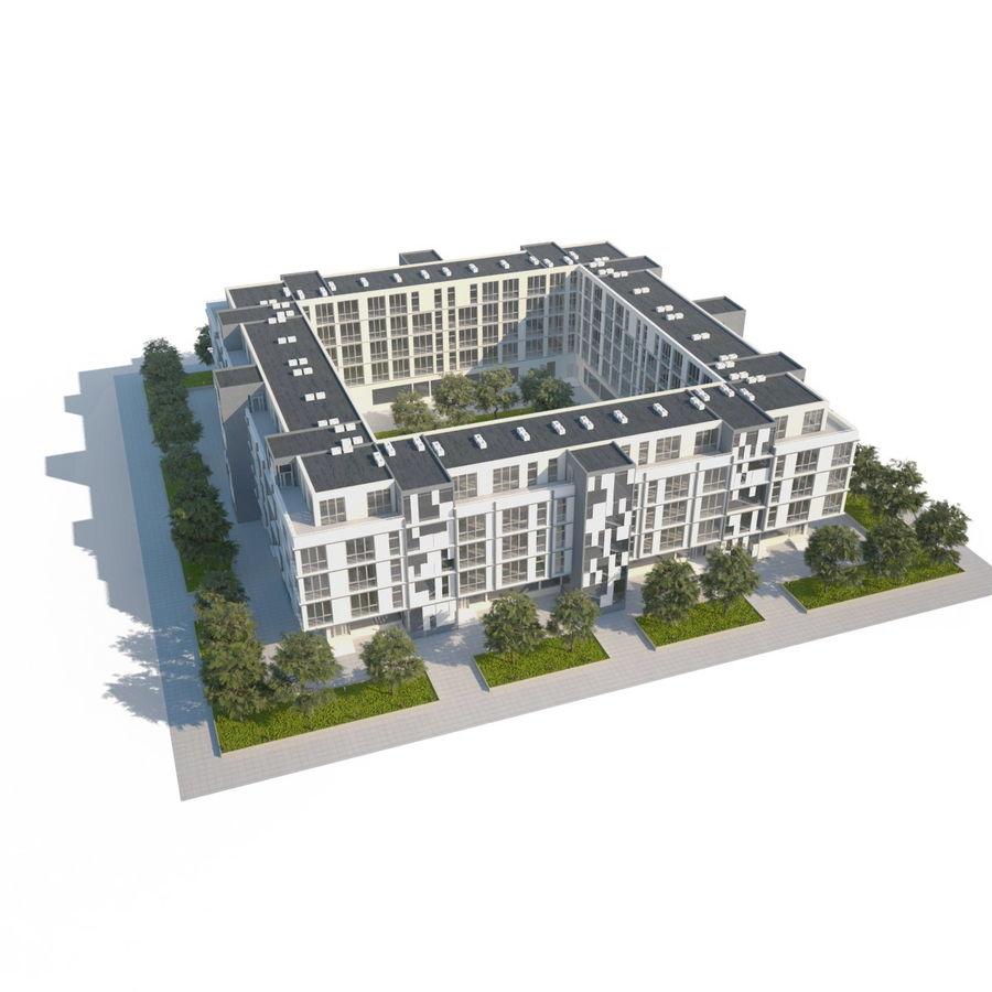 Dom, mieszkanie, budynek biurowy royalty-free 3d model - Preview no. 2