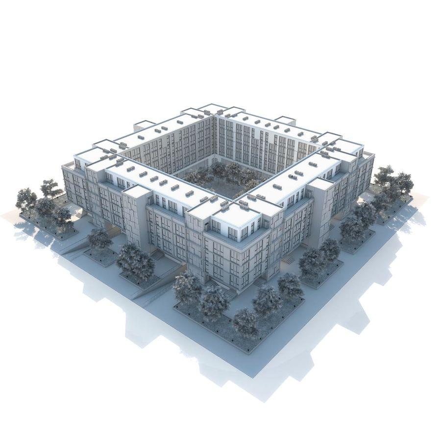 Dom, mieszkanie, budynek biurowy royalty-free 3d model - Preview no. 3