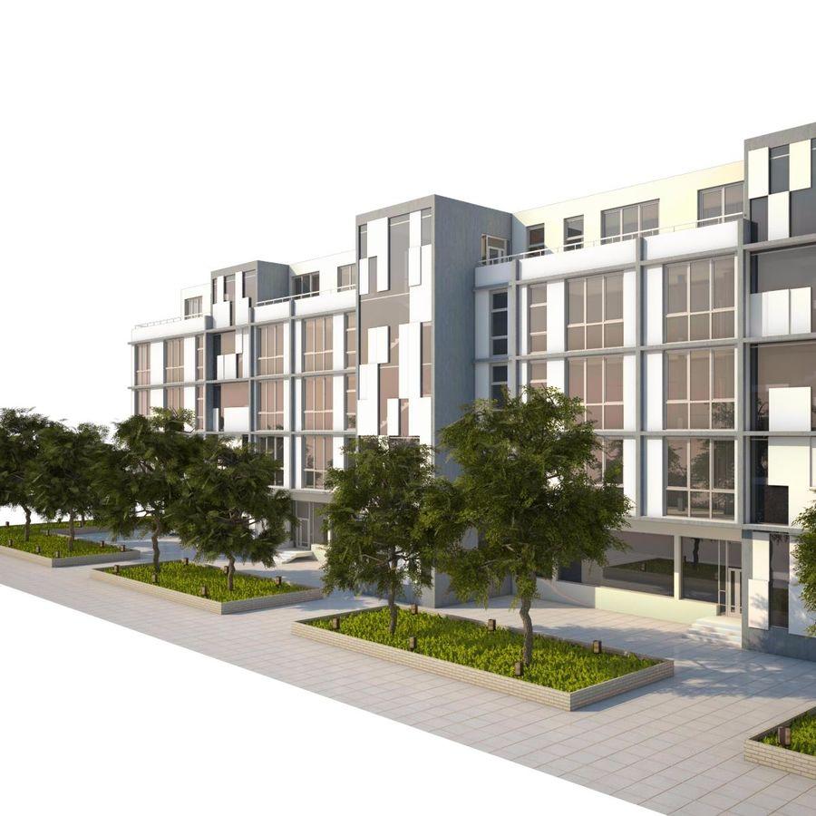 Dom, mieszkanie, budynek biurowy royalty-free 3d model - Preview no. 4