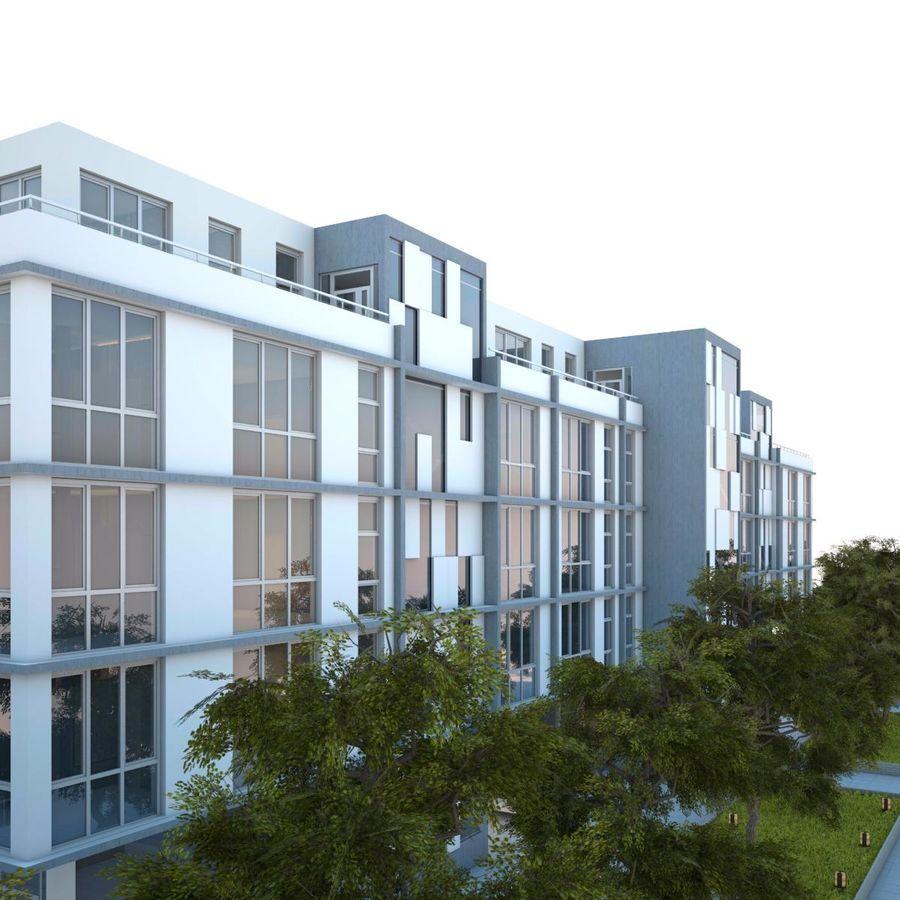 Dom, mieszkanie, budynek biurowy royalty-free 3d model - Preview no. 6