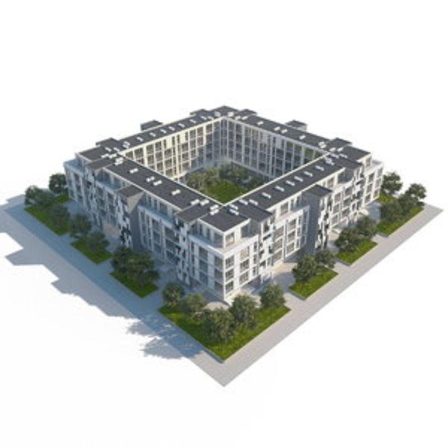 Dom, mieszkanie, budynek biurowy royalty-free 3d model - Preview no. 1