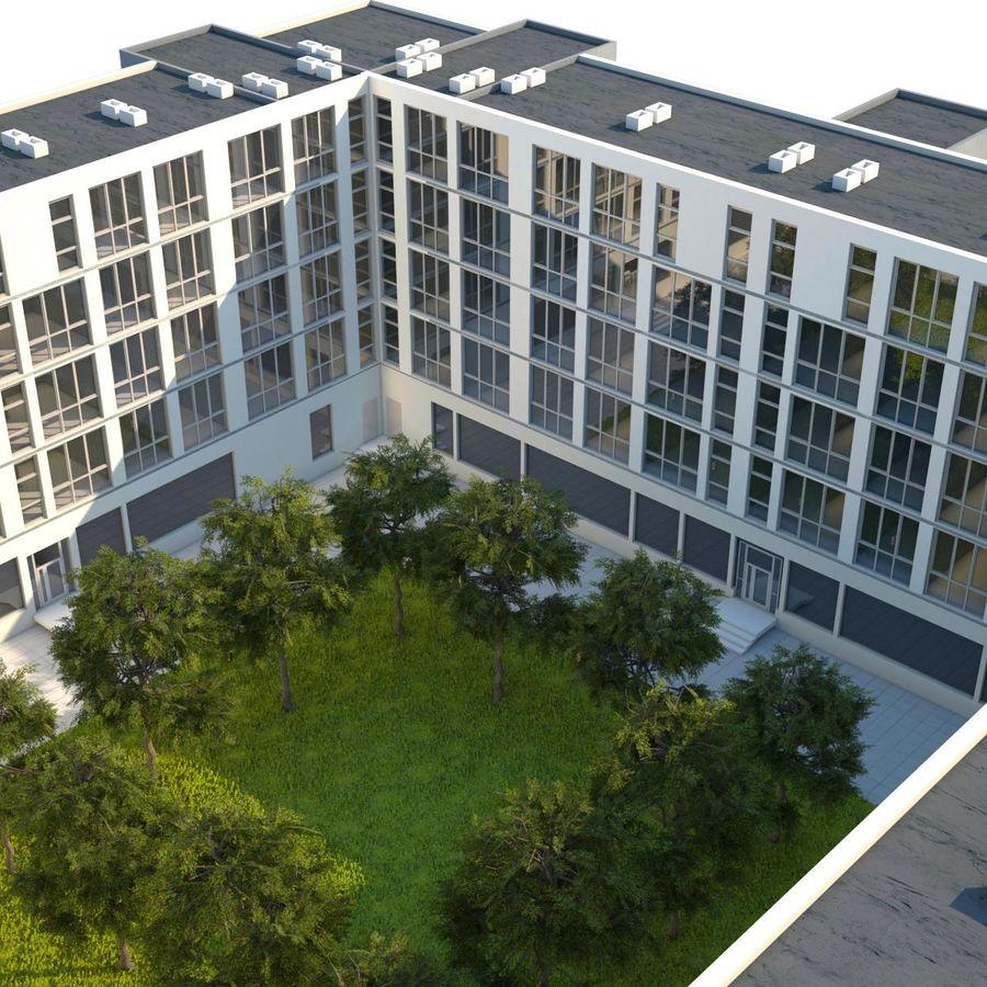 Dom, mieszkanie, budynek biurowy royalty-free 3d model - Preview no. 5