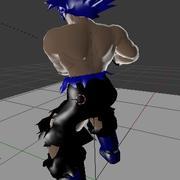 Donkere Goku 3d model