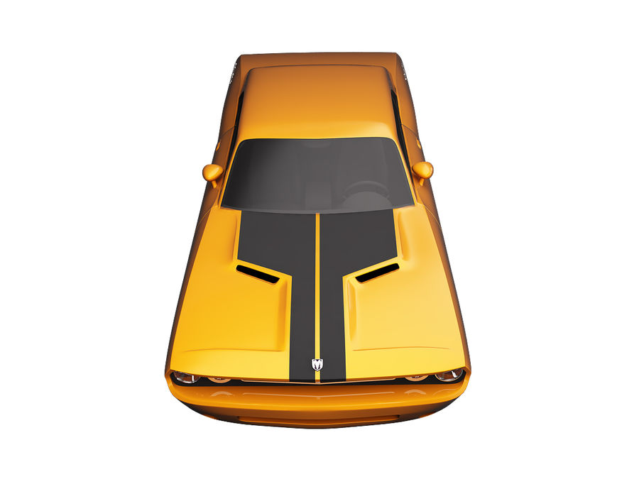 Dodge Challenger 2008 royalty-free 3d model - Preview no. 5