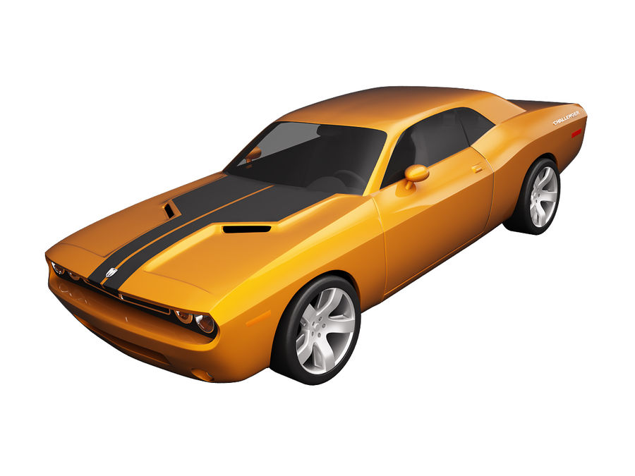 Dodge Challenger 2008 royalty-free 3d model - Preview no. 2