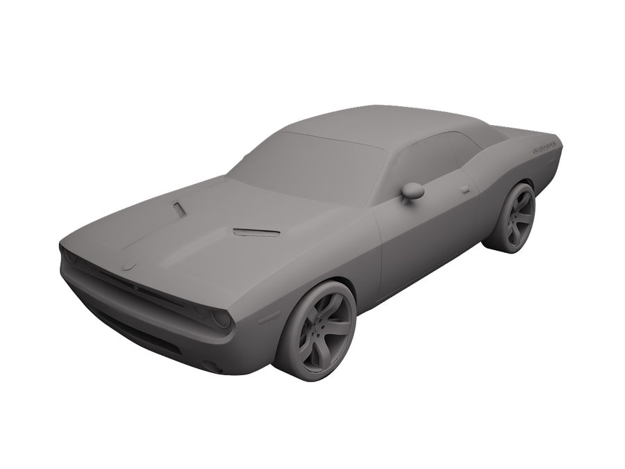 Dodge Challenger 2008 royalty-free 3d model - Preview no. 6