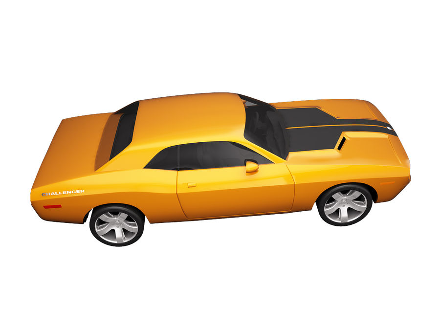 Dodge Challenger 2008 royalty-free 3d model - Preview no. 4