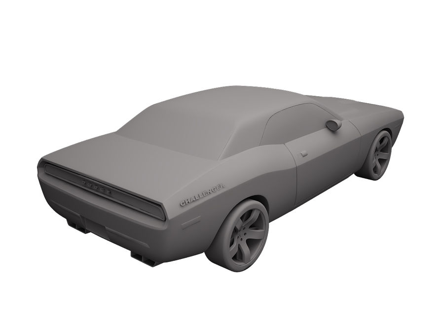 Dodge Challenger 2008 royalty-free 3d model - Preview no. 7