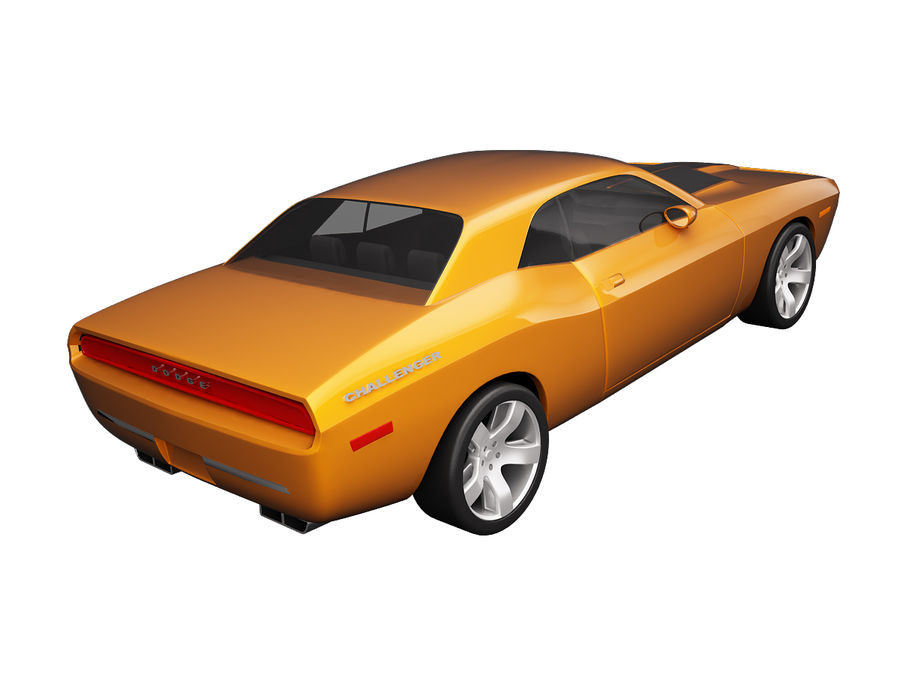 Dodge Challenger 2008 royalty-free 3d model - Preview no. 3