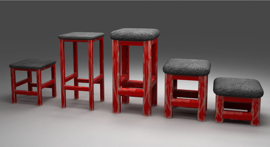 Stühle Hocker royalty-free 3d model - Preview no. 1