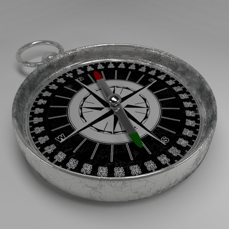 Pusula royalty-free 3d model - Preview no. 2