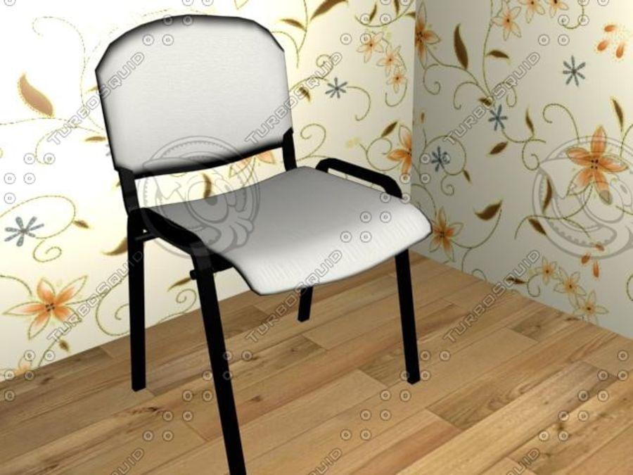 办公椅1 royalty-free 3d model - Preview no. 4