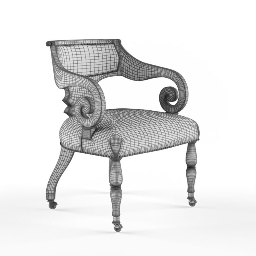 Century Furniture Chair royalty-free 3d model - Preview no. 4
