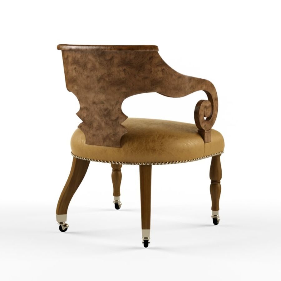 Century Furniture Chair royalty-free 3d model - Preview no. 2