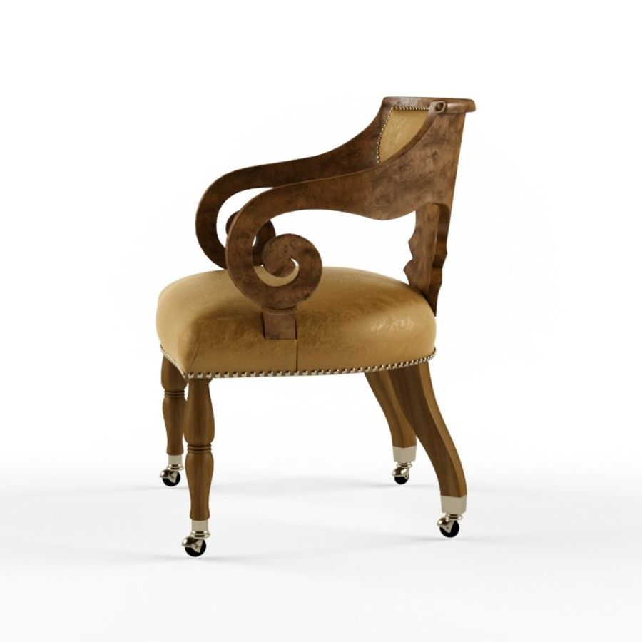 Century Furniture Chair royalty-free 3d model - Preview no. 3