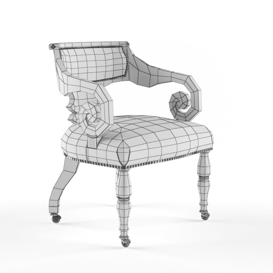 Century Furniture Chair royalty-free 3d model - Preview no. 5
