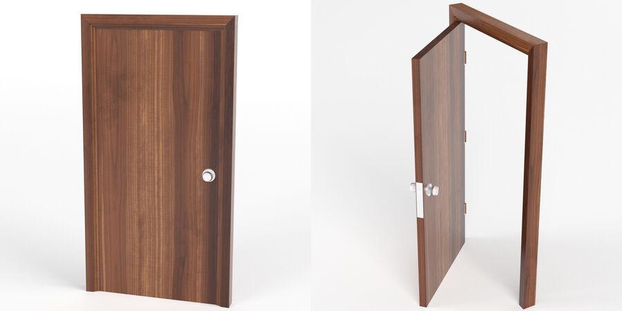 Vlakke deur met kozijn royalty-free 3d model - Preview no. 2