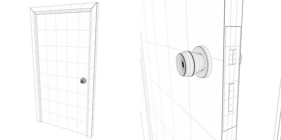 Vlakke deur met kozijn royalty-free 3d model - Preview no. 5