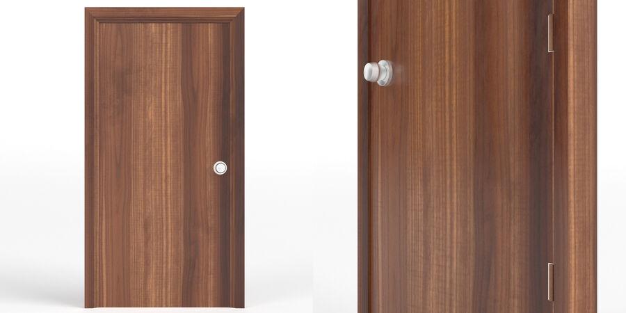 Vlakke deur met kozijn royalty-free 3d model - Preview no. 3